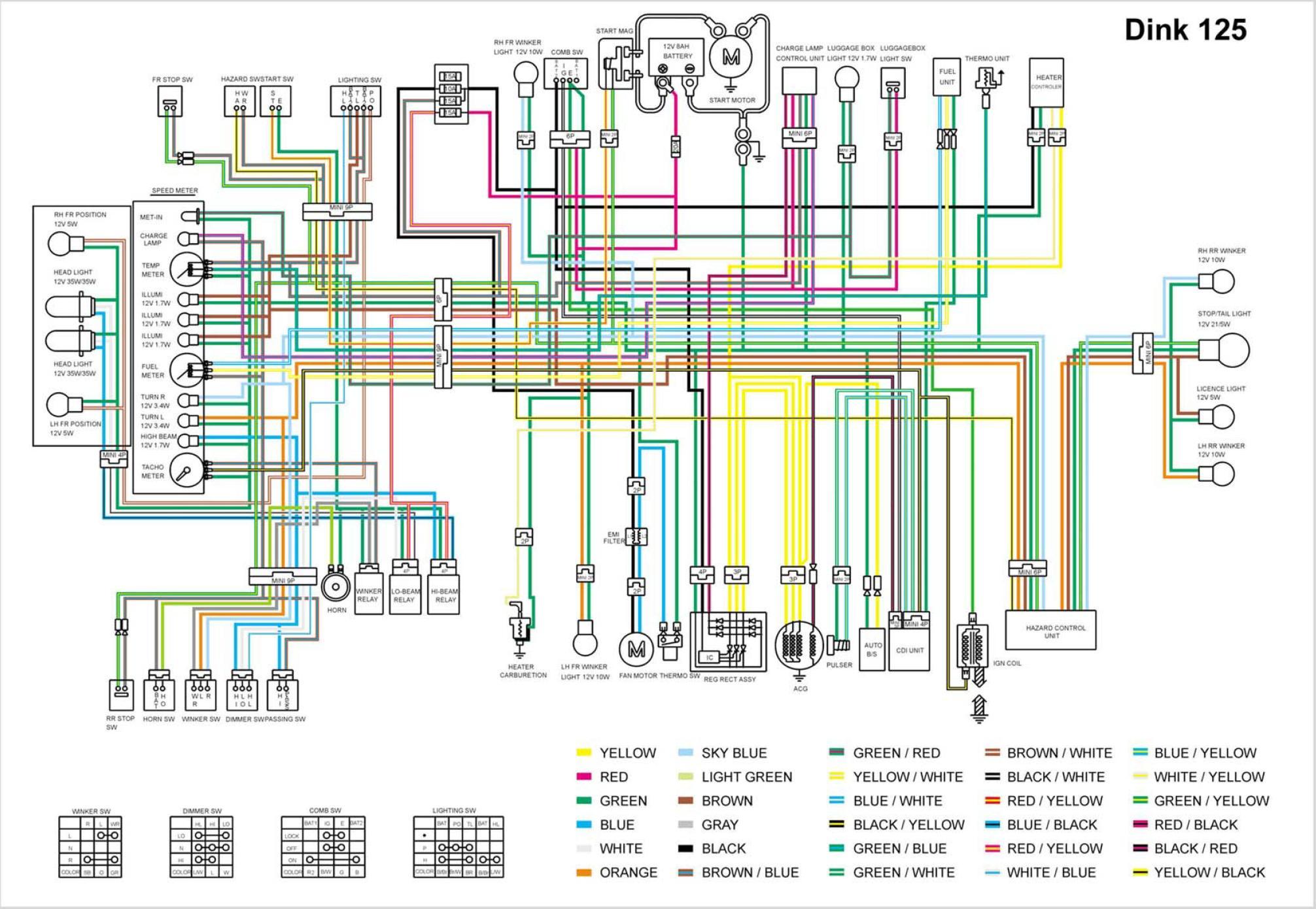 Схема проводки на скутер вортекс