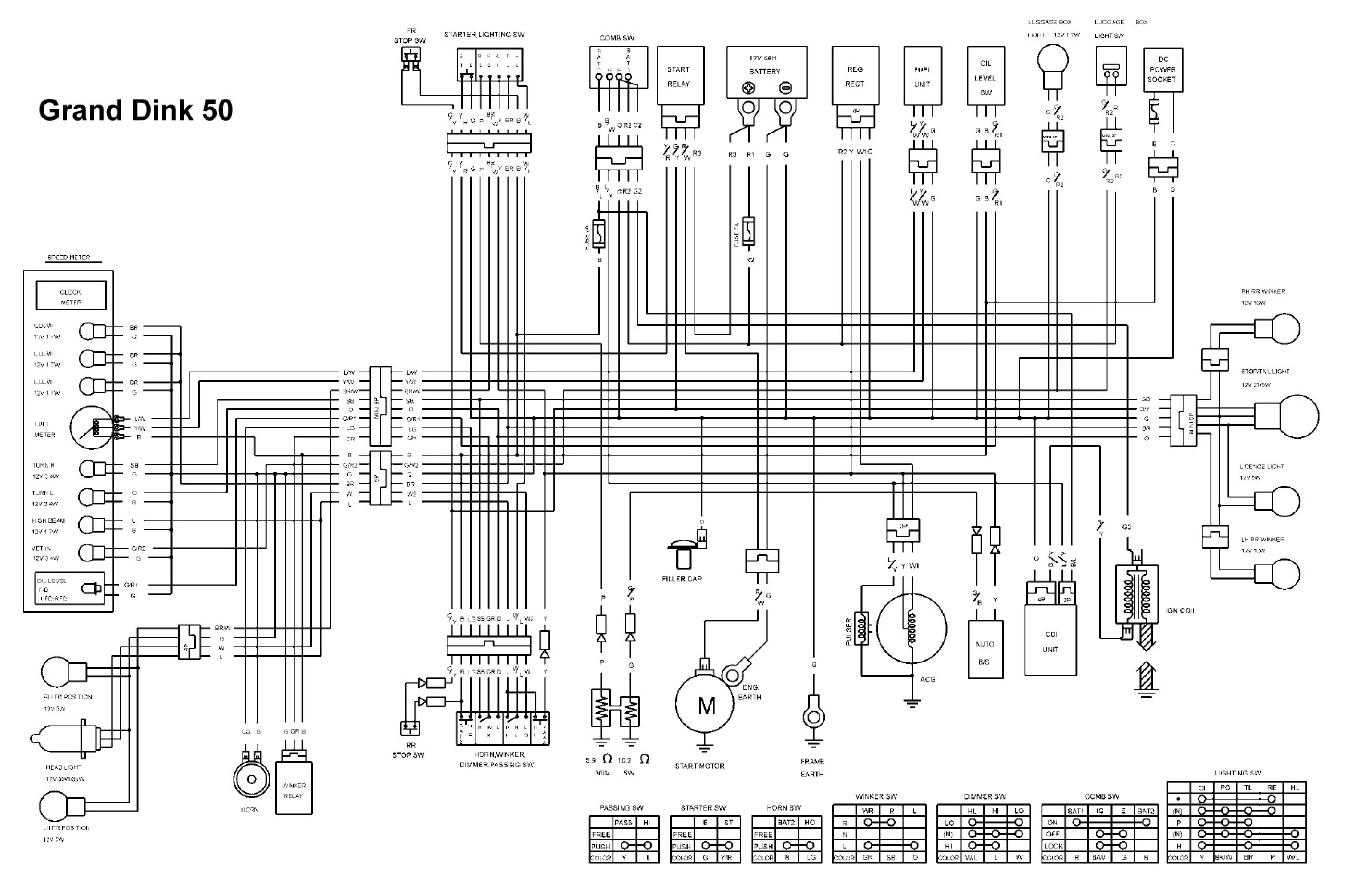 2004 Tuohe Moped Wiring Diagram Detailed Schematics Puch Newport Likewise Chinese Scooter Further Honda Schematic Cart
