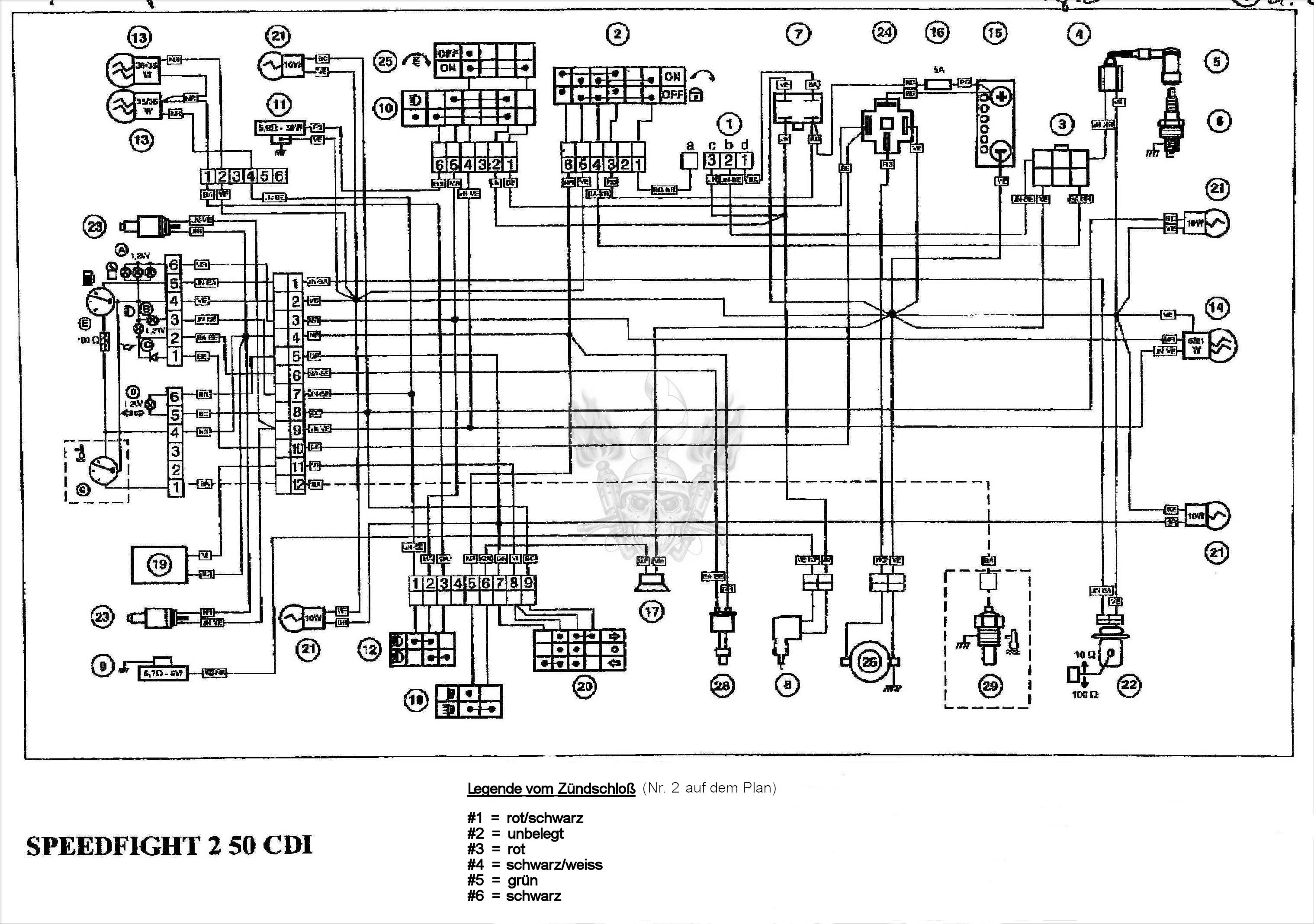 50cc Scooter Headlight Wiring Diagram Free Download | Wiring ... on