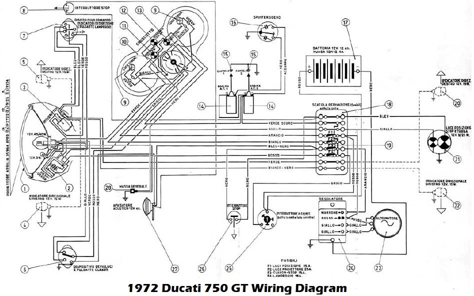 ducati motorcycle manuals pdf, wiring diagrams & fault codes suzuki vl 1500 wiring diagram 1972 ducati 750gt wiring diagram