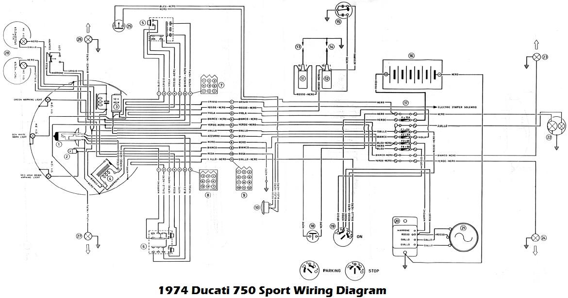 ducati motorcycle manuals pdf, wiring diagrams & fault codes yamaha fz6r wiring diagram 1974 ducati 750 sport wiring diagram
