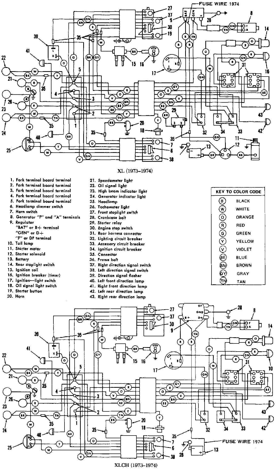 1980 Harley Davidson Xlh 1000 Wiring Diagram