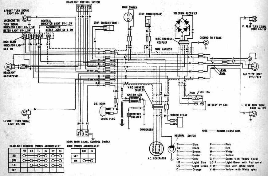 complete electrical wiring diagram of 1970 1973 honda cl100?t=1484995664 honda motorcycle manuals pdf,Honda Cub Wiring Diagram