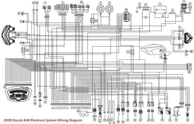 ducati motorcycle manuals pdf 2008 ducati 848 electrical system wiring diagram