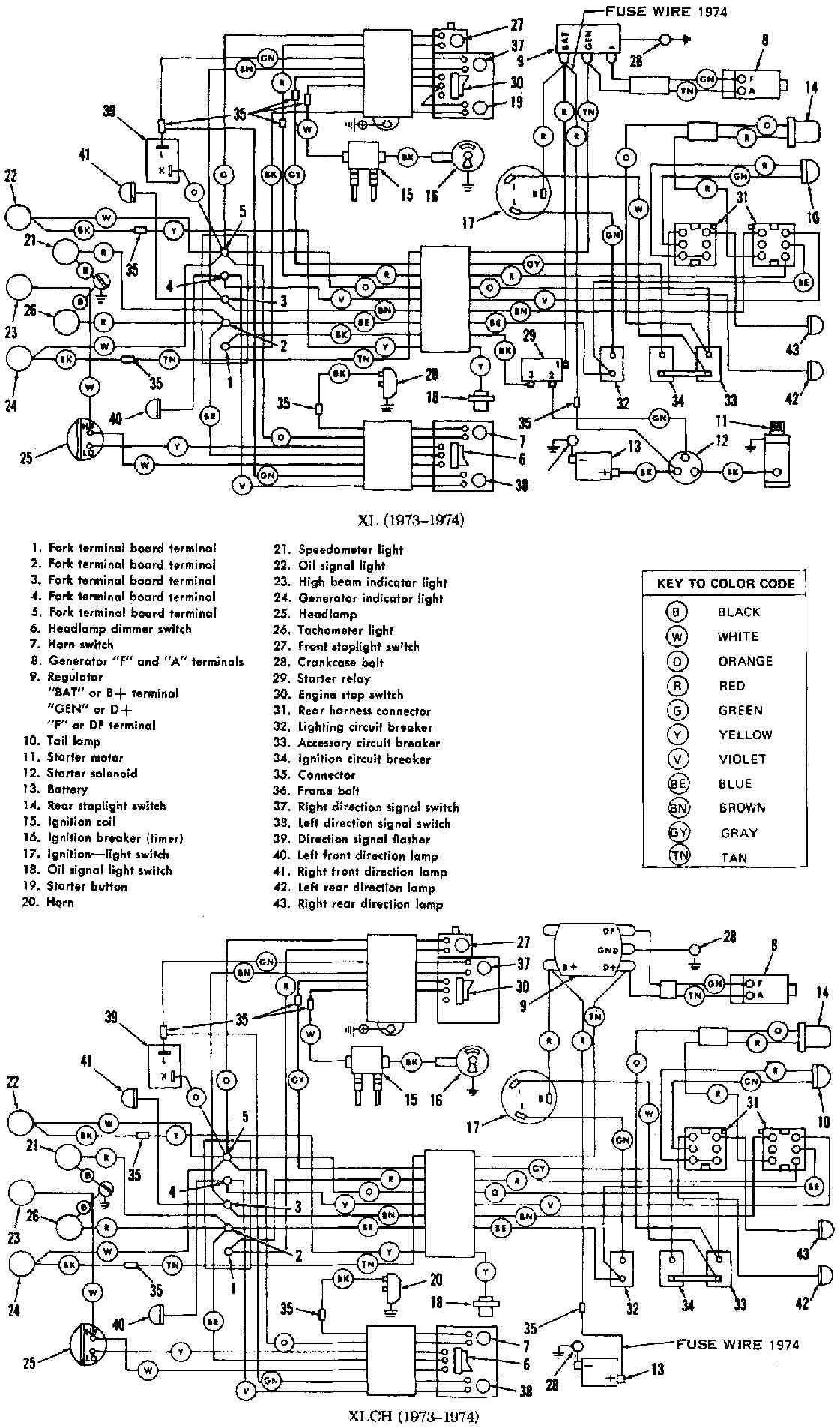 [SCHEMATICS_4LK]  HARLEY DAVIDSON - Motorcycles Manual PDF, Wiring Diagram & Fault Codes | Wiring Diagram For A 1975 Harley Davidson Flh |  | Motorcycle Manuals News